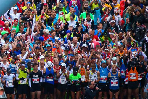 Ein Bild, das mehr als tausend Worte sagt: Begeisterung pur wird wieder spürbar sein, wenn die Läuferinnen und Läufer auf die Strecke geschickt werden.steurer