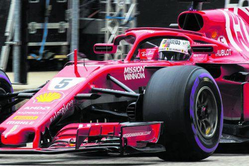 Einfache Rechnung für Sebastian Vettel und Ferrari:Ein Sieg muss her. ap