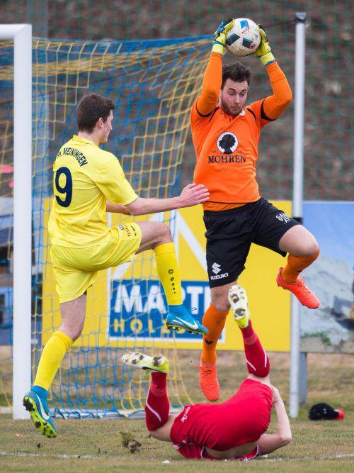 FC-Dornbirn-Schlussmann Lukas Hefel musste in den bisherigen 14 Meisterschaftsspielen lediglich elf Gegentreffer hinnehmen.VN/Sams