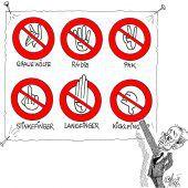 Neue Verbotszeichen!
