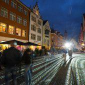 Heftig und beeindruckend: Feldkirch wurde gestern Abend zur Lichtstadt. D6