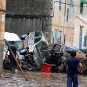 Mindestens zehn Tote und massive Schäden nach Unwetter auf Mallorca. D6