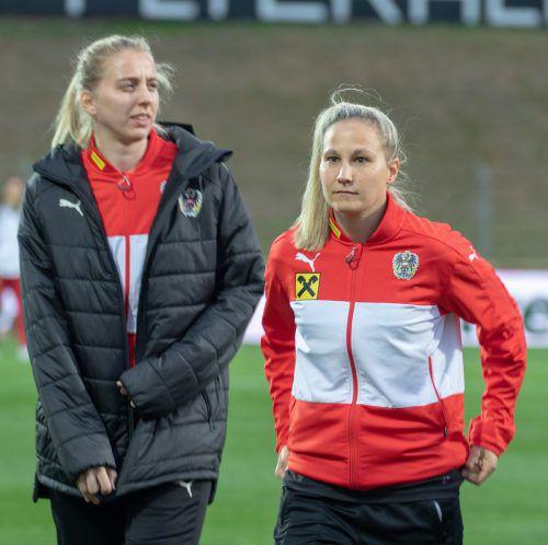 Fokus Nationalteam: Die Bremer Teamkolleginnen Sabrina Horvat und Katharina Schiechtl (links) freuen sich auf England.Hepberger