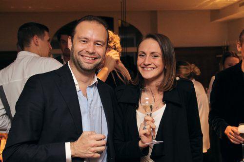 Frederick Lins und Ariella Gregus bei der Eröffnungsfeier.