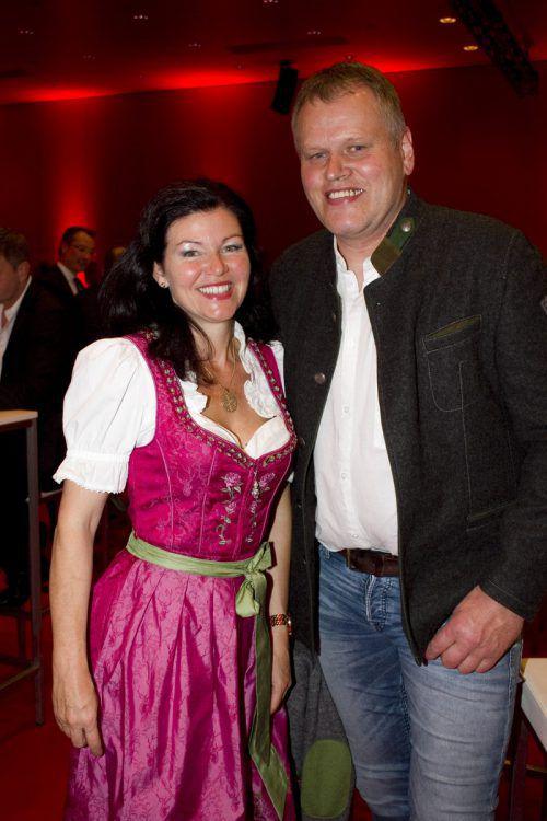 Fühlten sich in der Messehalle 12 wohl: Edith Immler und Alois Feurstein.