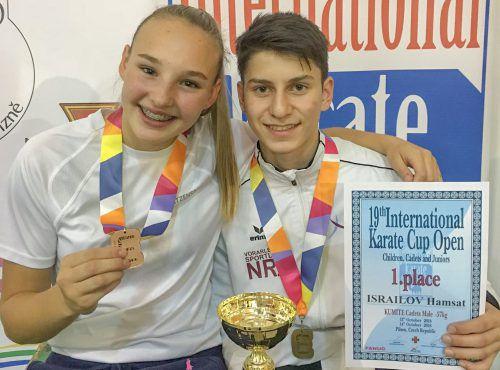 Hanna Devigili und Hamsat Israilov sind in Höchst im Einsatz. Verband
