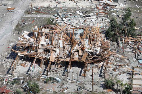 """Hurrikan """"Michael"""" hat Häuser wie Streichhölzer umgeknickt. AFP"""