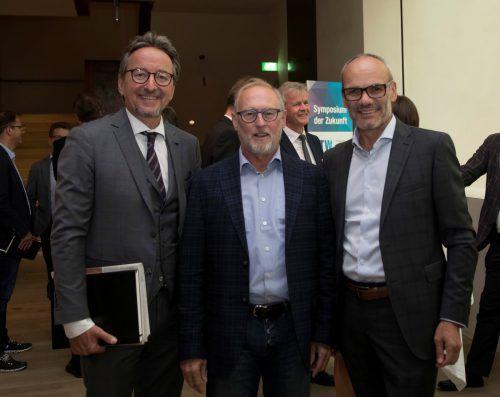 Hypo-Vorstand Johannes Hefel (l.), AK-Direktor Rainer Keckeis und Johann Schallert (Bandex).