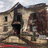 Tödliches Feuer in Oberriet vermutlich gelegt