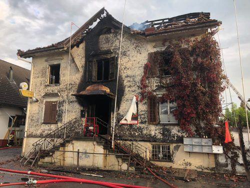 Im Gasthaus Sonne starben beim Brand zwei Menschen. kapo