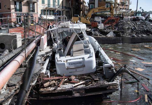 Im italienischen Küstenort Rapallo riss der Sturm Luxusjachten los. AP