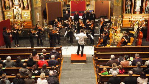 In der Pfarrkirche von Weiler präsentierte sich die Kammer Philharmonie Vorarlberg erstmals der Öffentlichkeit.Christof Egle