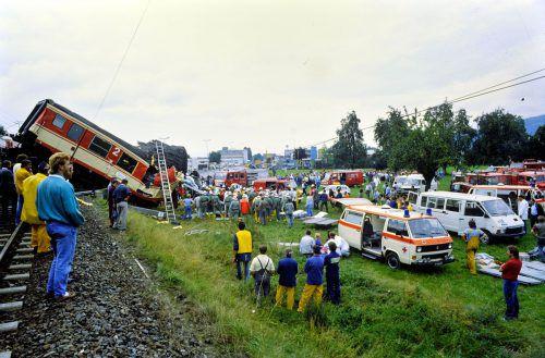 In unmittelbarer Nähe des Güterbahnhofs kam es am 29. August 1988 zu einem folgenschweren Zugsunglück. Fünf Menschen kamen dabei ums Leben, 46 weitere wurden zum Teil schwer verletzt.