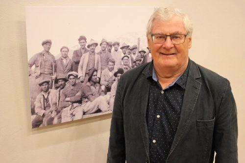 Josef Concin hat sich in den letzten 30 Jahren intensiv mit der Trentiner Zuwanderung nach Vorarlberg auseinandergesetzt. VN/JS