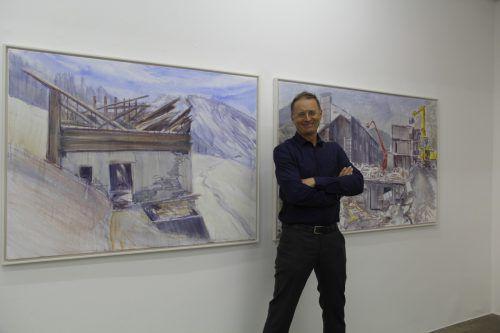 Jubilar Roland Haas freute sich über das große Interesse an seiner Ausstellung.