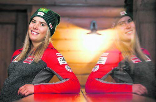 Katharina Liensberger blickt der neuen Ski-Weltcupsaison entspannt entgegen. Die Göfnerin war mit der Vorbereitung zufrieden und fasst wieder Spitzenplätze ins Auge.gepa