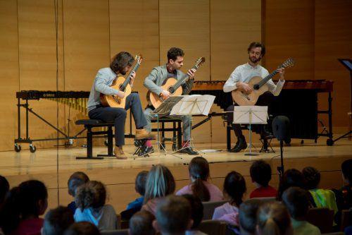 Konzerte für Kinder zählen zum Konzept des Alpenarte-Festivals. Heuer sind in Schwarzenberg rund 320 Schüler dabei. VN/RP
