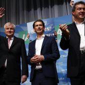 Kurz leistet Söder Wahlkampfhilfe