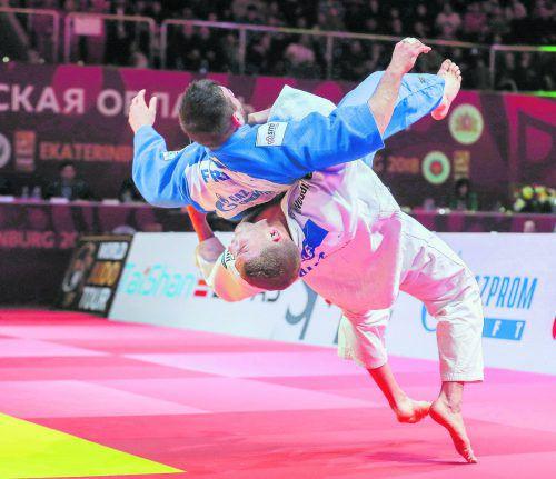 Laurin Böhler (weißer Kimono) wirbelte beim Grand Prix in Mexiko seine Gegner durch die Luft.Weltverband