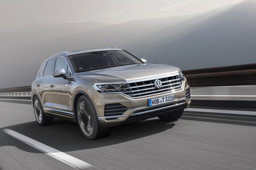 """LED-Matrixscheinwerfer, genannt """"IQ.Light"""": Der neue VW Touareg kann mit der derzeit höchsten Licht-Evolutionsstufe leuchten. Werk"""