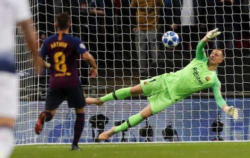 Marc-Andre ter Stegen bewahrte Barcelona am Wochenende vor einer Niederlage. AP
