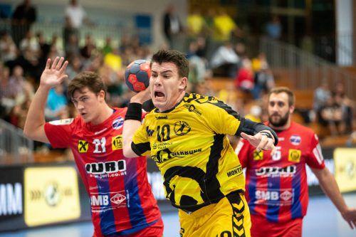 Marko Coric und Bregenz gaben gegen Leoben unnötig einen Punkt ab.VN/Sams