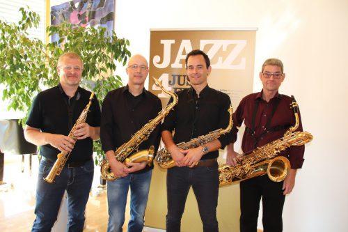 Markus Böhler, Robert Bernhard, Mathias Giesinger und Stefan Geiger sorgten für die Musik in Bildstein.