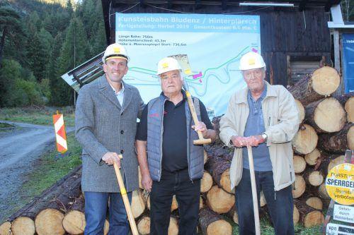 Markus Prock, Helmut Tagwerker und Dieter Kohler (v. l).VN/JS