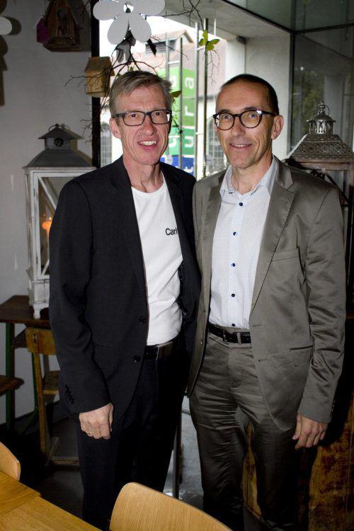 Martin Hagleitner-Huber (l.) und Caritasdirektor Walter Schmolly.