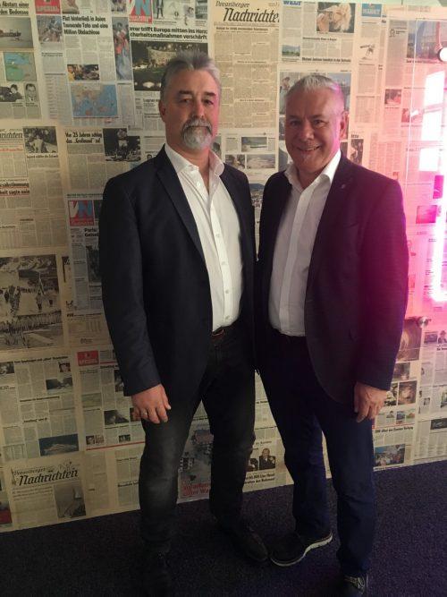 Michael Defranceschi (l.) und Michael Walser sind überzeugt, dass durch exzellente Führung die Wettbewerbsfähigkeit gesteigert wird. VN/sca