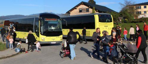 Mit Busshuttle wurden Verkehrsprobleme im Keim vermieden.