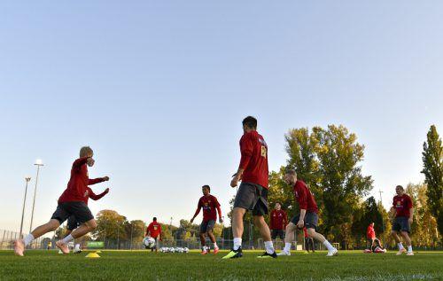 Mit einer auf mehreren Positionen veränderten Mannschaft wird Österreich heute den Test gegen Dänemark bestreiten.gepa
