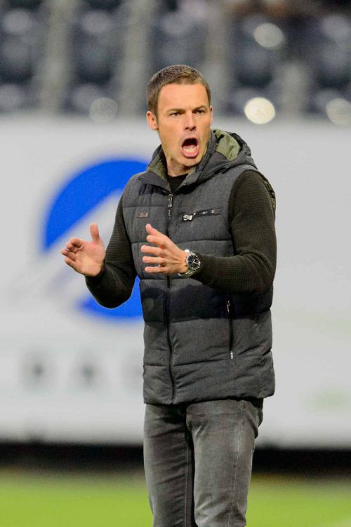 Nicht immer so emotional: Altachs Werner Grabherr will nun den Schwung vor der Länderspielpause mit in den Herbst nehmen.apa