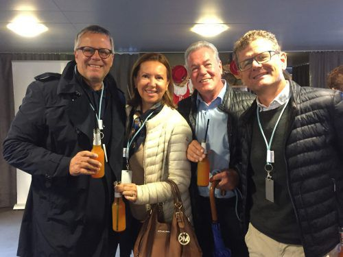 ÖVP-Klubobmann Roland Frühstück mit Gattin Birgitt, Arzt Rudolf Brugger und VFV-Präsident Horst Lumper.