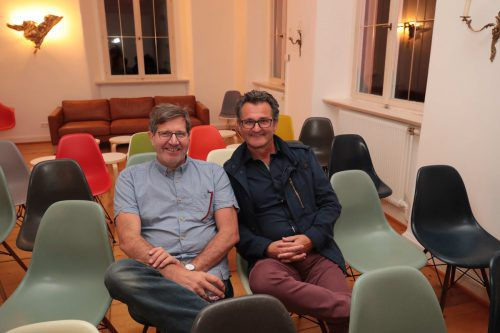 Peter Tomaselli (l.) und Architekt Dieter Gross.