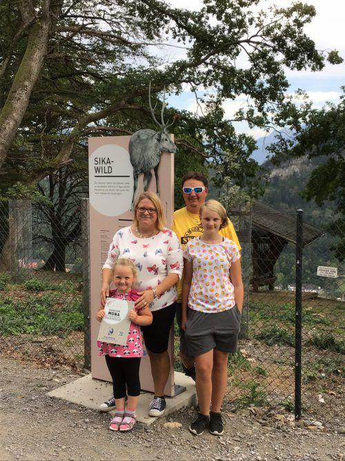 Ramona Mair mit Familie aus Strengen in Tirol sind begeisterte Wildparkfans.
