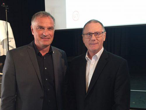 Rechtsexperte Rudolf Keplinger (r.) mit Mario Leiter, Bundesvorsitzender der österreichischen Gemeindesicherheitswachen. vn/sohm