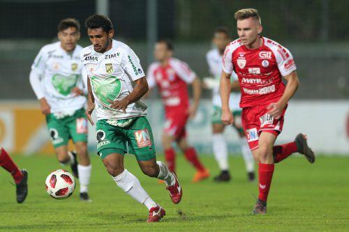 Ronivaldo (Bild) erzielte so wie Sandro Djuric zwei Treffer beim 5:1-Auswärtserfolg der Austria in Steyr.GEPA
