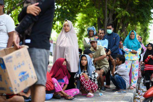 Rund 200.000 Menschen sind nach der Tsunamikatastrophe auf Hilfe angewiesen. AFP