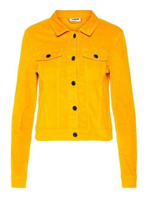 Samtweich             Kurze Jacke aus Kordsamt von Noisy May. Gibt's bei Vero Moda um 39,99 Euro.