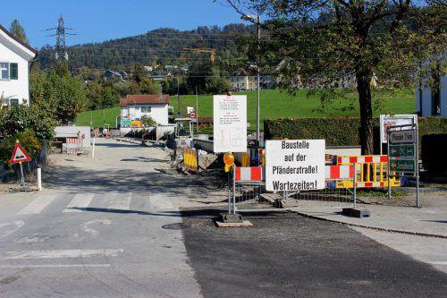 Sanierung der Lochauer Gemeindestraße auf den Pfänder ist vor dem Abschluss. bms