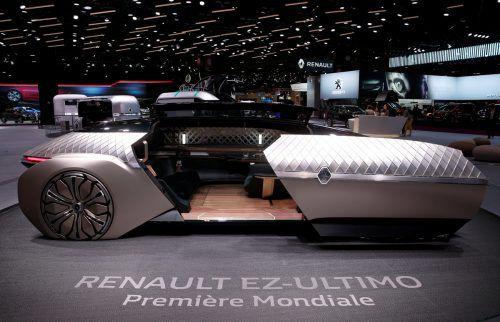 Schöner Wohnen auf französisch. Renault gibt mit der Studie EZ-Ultimo einen Ausblick auf ein autonomes Transportmittel mit Lounge-Charakter.