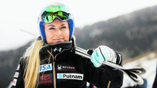 Schultert ihre Skier für eine letzte Saison im Weltcupzirkus: Lindsey Vonn.gepa