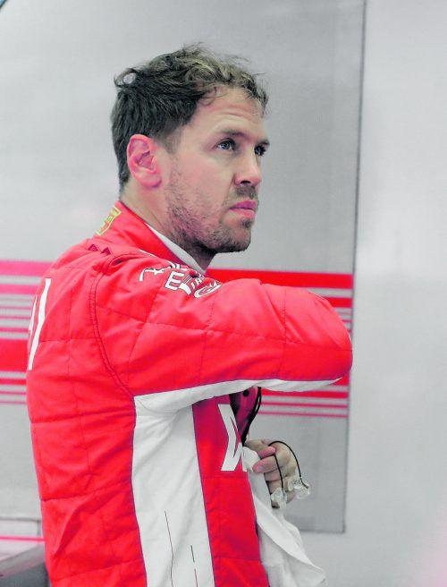 Sebastian Vettel war über seinen Auftritt in Austin nicht glücklich.ap