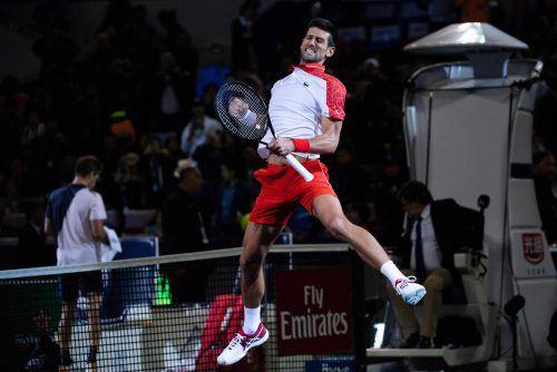 Seit 18 Spielen in Folge unbesiegt: Novak Djokovic.apa