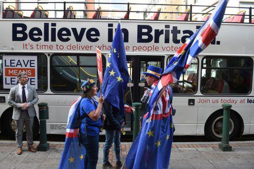 Täglich gehen Briten auf die Straße, um für oder gegen den Brexit zu demonstrieren.afp