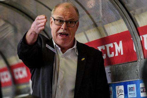 Trainer Dave MacQueen geht mit seinen Dornbirn-Cracks nach vier Niederlagen in Serie über die Bücher. gepa