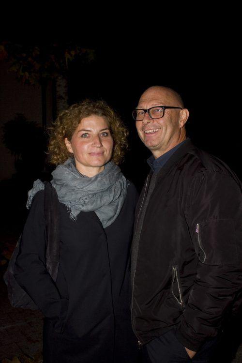 Unter den Gästen: Gabriele Gort und Pius Grabher.