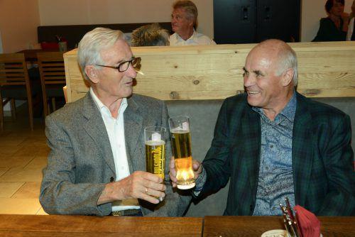 Unter den Gästen im GH Lamm in Bregenz war auch Ferry Lugmayr (l.).