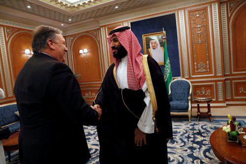 US-Außenminister Pompeo sprach mit Kronprinz Mohammed bin Salman. Reuters